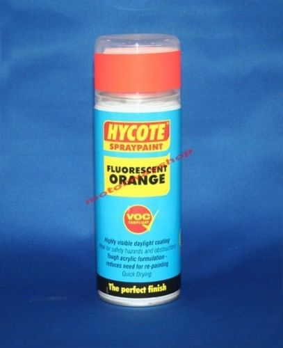 Fluorescent Neon Orange Spray Paint Hi Vis Hycote 400ml